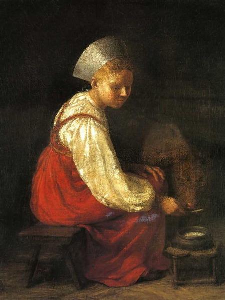 Девушка с теленком. 1829 г.
