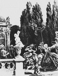 Игра в серсо (А. Менцель, 1830-е г.)