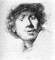 Автопортрет с широко раскрытыми глазами (Рембрандт)