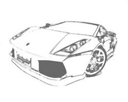 Высокополигональная 3D модель авто Lamborghini Gallardo