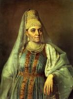 М.А.Венецианова в русском костюме.1830