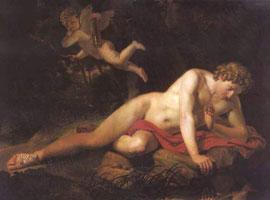 Нарцисс, смотрщийся в воду (К. Брюлов)