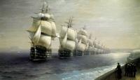 Смотр Черноморского флота в 1849 году (И.К. Айвазовский)