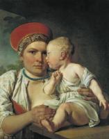 Кормилица с ребенком. 1830-е
