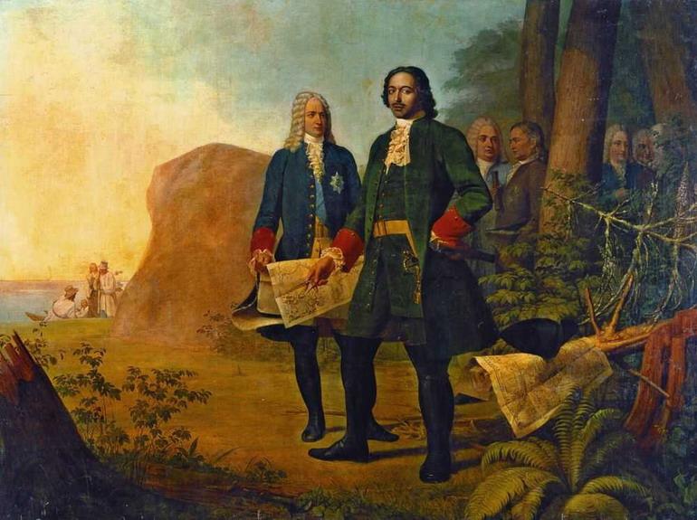 Петр Великий. Основание Санкт-Петербурга. 1838