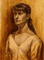 Портрет девушки (гризайль)