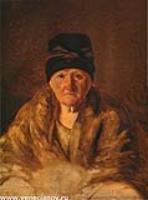 Старая няня в шлычке. 1829