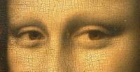 Сетка кракелюра на красочном слое (Джоконда)