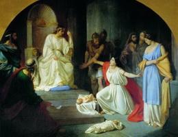 Суд царя Соломона (Н.Н. Ге, 1854 г.)