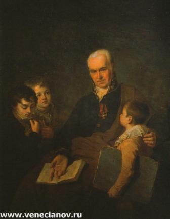 Портрет К.И. Головачевского с тремя воспитанниками Академии. 1811