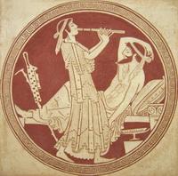 Одиссей и Каллипсо (Е. Киселева, граффито)