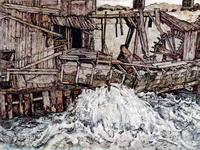 Старая мельница (Э. Шиле, 1916 г.)