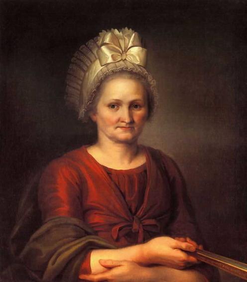 Портрет А.Л.Венециановой, матери художника