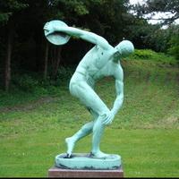 Дискобол Мирона в Ботаническом саду Копенгагена