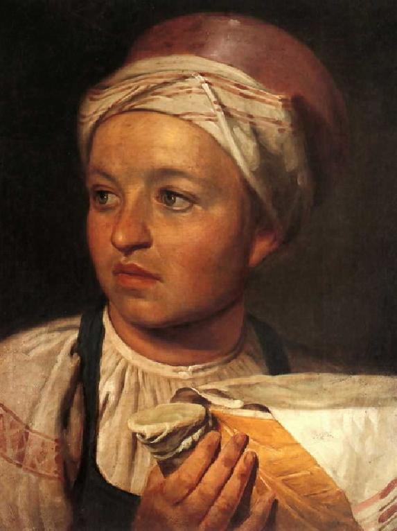 """1824 Венецианов А.Г. """"Девушка с крынкой молока"""""""