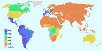 Распространение католицизма в мире