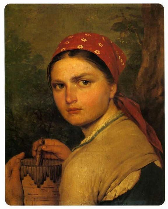 "1824 Венецианов А.Г. ""Девушка с бураком"""
