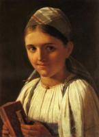 Девушка с гармошкой. 1840