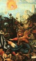 """Маттиас Грюневальд. Картина """"Искушение святого Антония"""""""