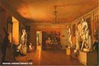 Мастерская художника А.Г.Венецианова. Его ученик А. Алексеев. 1827