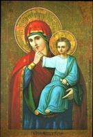 Движки на иконе Божьей Матери