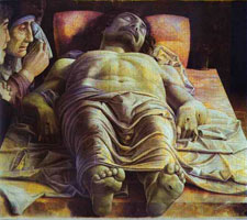 Андреа Мантенья. Мертвый Христос, после 1474. Милан, Пинакотека