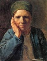 Крестьянская женщина, опирающаяся на руку.