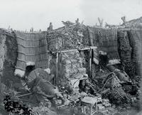 Вид одной из батарей Корниловского бастиона в Севастополе (1855 г.)
