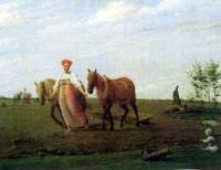 На пашне. Весна. Середина 1820
