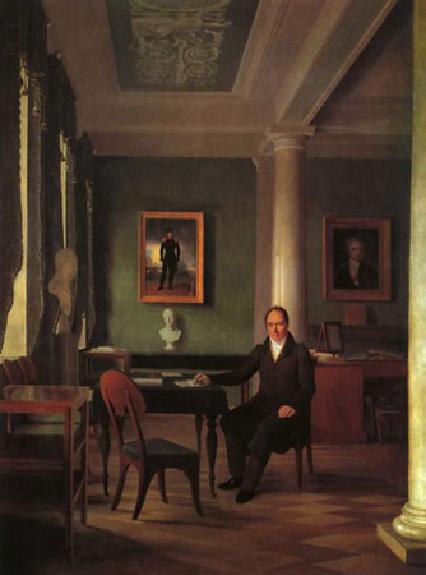 """1834 Венецианов А.Г. """"Портрет В.П. Кочубея"""""""