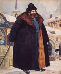 Купец в шубе (Б.М. Кустодиев, 1920 г.)