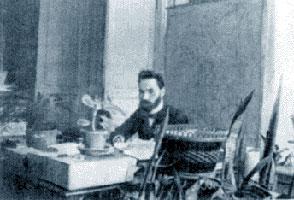 Валерий Брюсов в рабочем кабинете