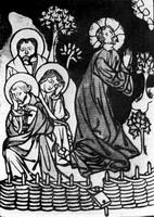 Моление о чаше (ксилография, 15 в.)