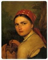 Девушка с бураком. 1824