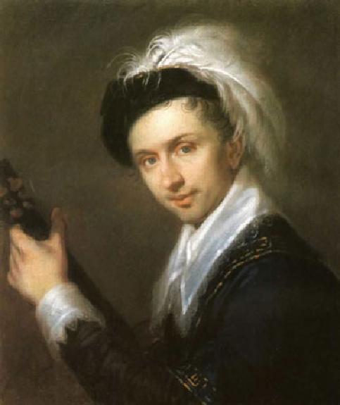 """1816 Венецианов А.Г. """"Портрет И.В. Бугаевского-Благодарного"""""""