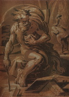 Диоген (Уго да Карпи, ок. 1530 г.)