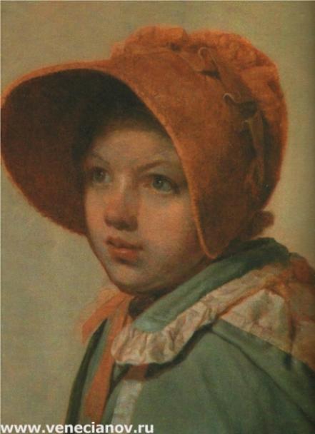 Девочка в шляпке. 1825-1826