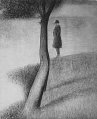 Мужчина возле дерева (Жорж Пьер Сёра)