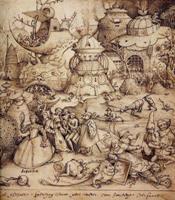 """Фрагмент картины Питера Брейгеля """"Семь смертных грехов"""""""