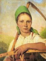 Крестьянка с косой и граблями (Пелагея).
