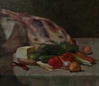 Натюрморт с бараньей ножкой (А. Мовлян, 2008 г.)