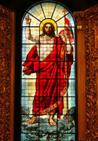 Витраж Воскресение Христа